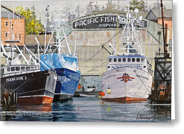 Deadliest Catch Greeting Cards - The Northwestern in Ballard Greeting Card by Bill Hudson