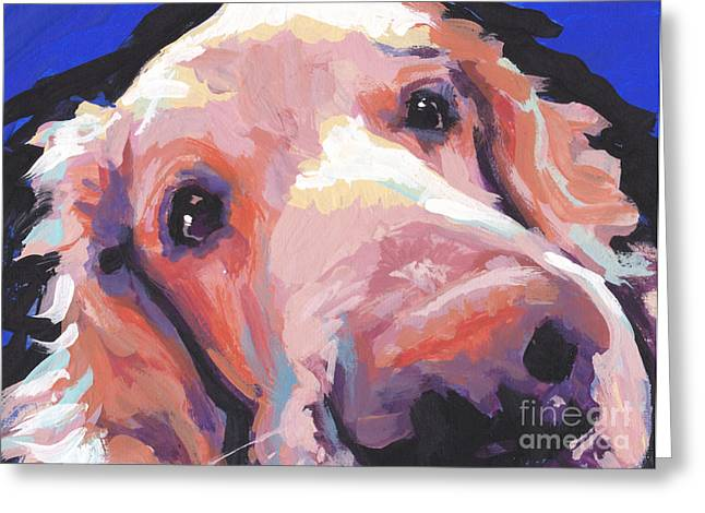 Golden Puppy Greeting Cards - The Nose Knows Greeting Card by Lea