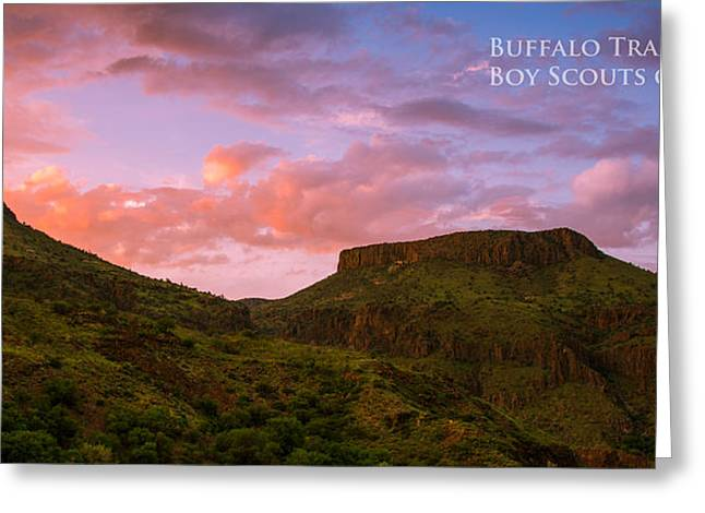 Summer Camps Greeting Cards - The Notch at Sunset - Pano Greeting Card by Aaron S Bedell