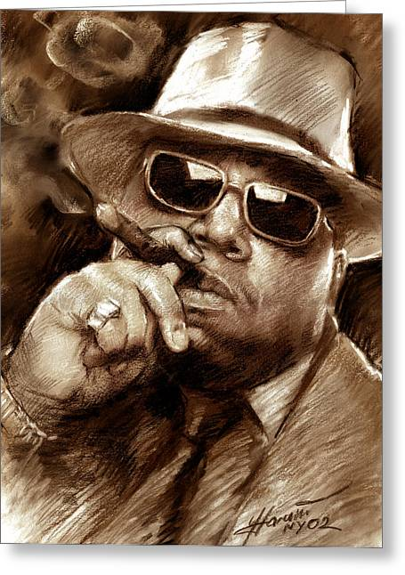 Hop Drawings Greeting Cards - The Notorious B.I.G. Greeting Card by Viola El
