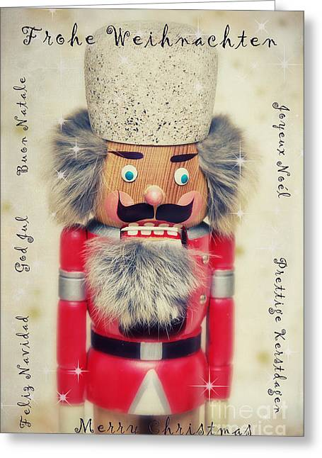 Uniforms Mixed Media Greeting Cards - The Nutcracker Greeting Card by Angela Doelling AD DESIGN Photo and PhotoArt