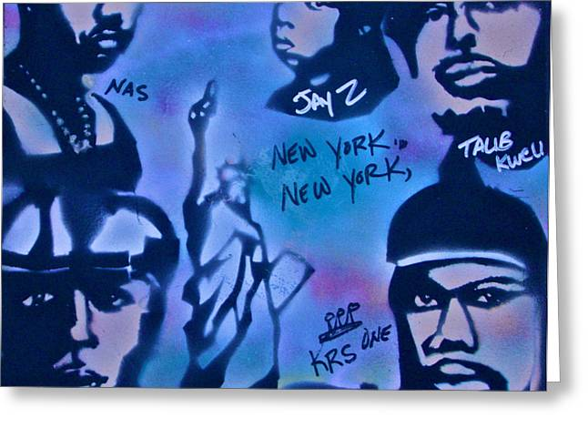 Mos Def Greeting Cards - The NYC side Greeting Card by Tony B Conscious