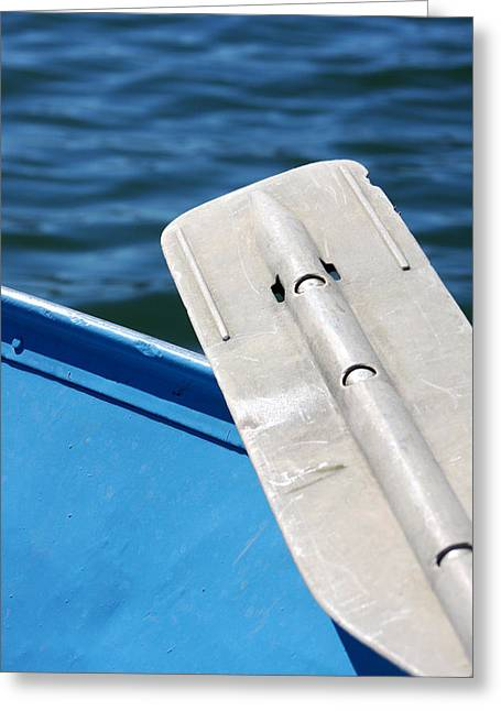 Morro Bay Ca Greeting Cards - The Oar Greeting Card by Art Block Collections