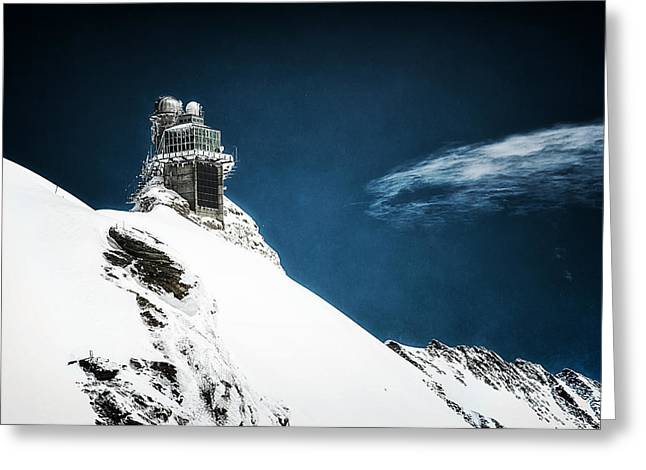 Swiss Greeting Cards - The Observatory Greeting Card by Ryan Wyckoff