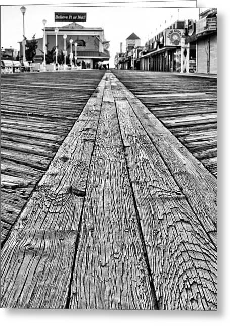 Walk Off Greeting Cards - The Ocean City Boardwalk Greeting Card by JC Findley