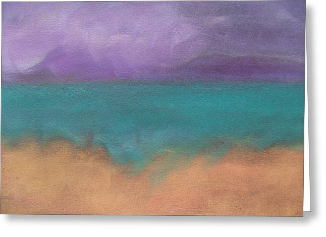 Ocean Shore Pastels Greeting Cards - The Ocean Greeting Card by Cynthea Greb