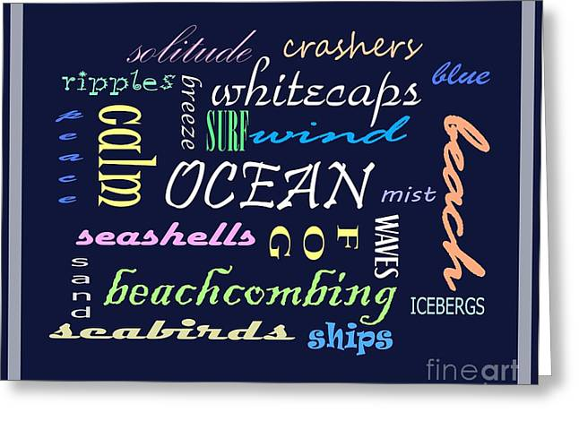 Seabirds Mixed Media Greeting Cards - The Ocean Is... Greeting Card by Barbara Griffin