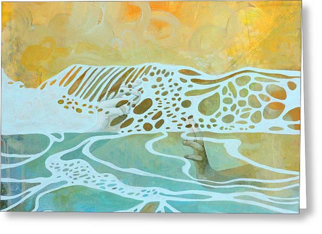 Award Winning Art Greeting Cards - The Ocean  Greeting Card by Sandra Cohen