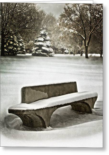 Drifting Snow Greeting Cards - The Off Season Greeting Card by John Anderson