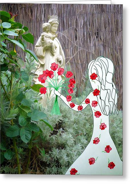 The Offering Greeting Card by Jo Ann