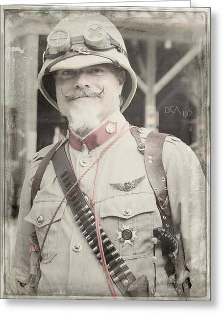 Steampunk Photographs Greeting Cards - The Officer Greeting Card by David April