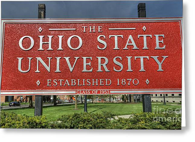 Ohio State University Greeting Cards - The Ohio State University Greeting Card by David Bearden