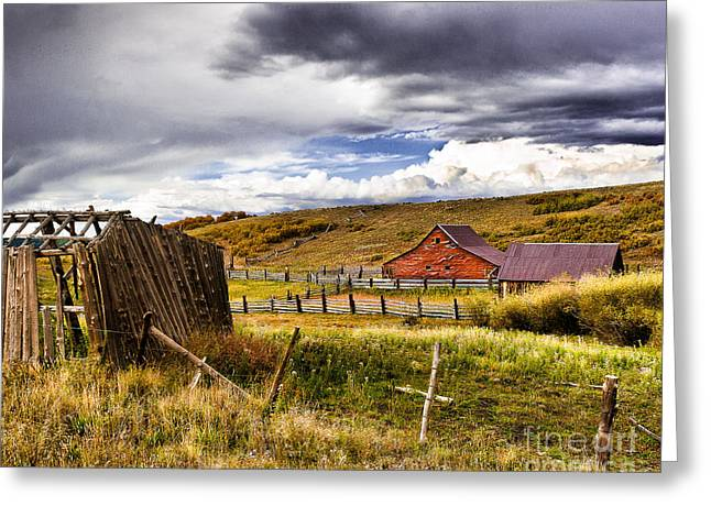 Sheds Greeting Cards - The Ol Homestead Greeting Card by Steven Reed