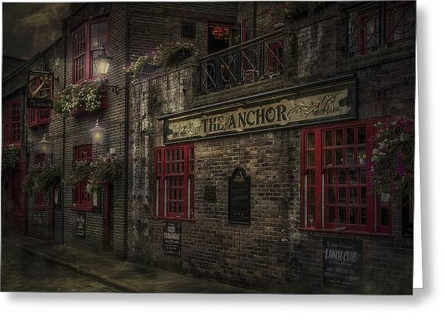 Thames River Greeting Cards - The Old Anchor Pub Greeting Card by Erik Brede