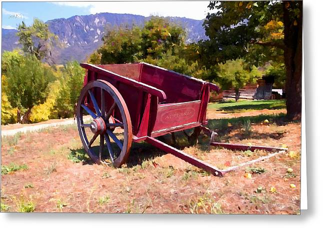 Fruit Tree Art Greeting Cards - The Old Apple Cart Greeting Card by Glenn McCarthy Art and Photography