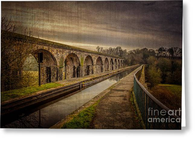 Fall Grass Greeting Cards - The Old Aqueduct Greeting Card by Adrian Evans
