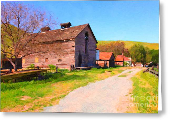 Back Roads Digital Art Greeting Cards - The Old Barn 5D22271 Greeting Card by Wingsdomain Art and Photography