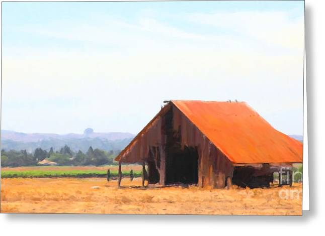 Back Roads Digital Art Greeting Cards - The Old Barn 5D24404 long Greeting Card by Wingsdomain Art and Photography