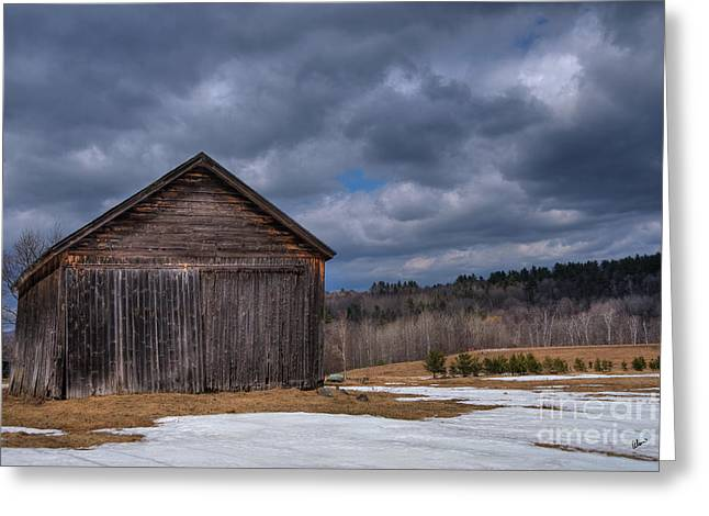 Old Maine Barns Greeting Cards - The Old Barn Greeting Card by Alana Ranney