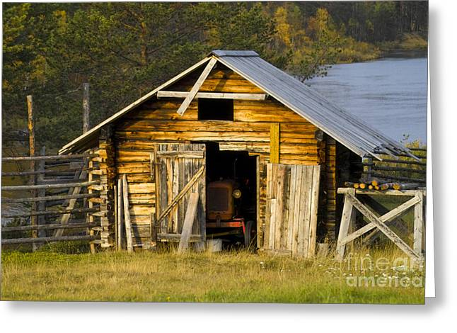 Heiko Koehrer-wagner Greeting Cards - The Old Barn Greeting Card by Heiko Koehrer-Wagner
