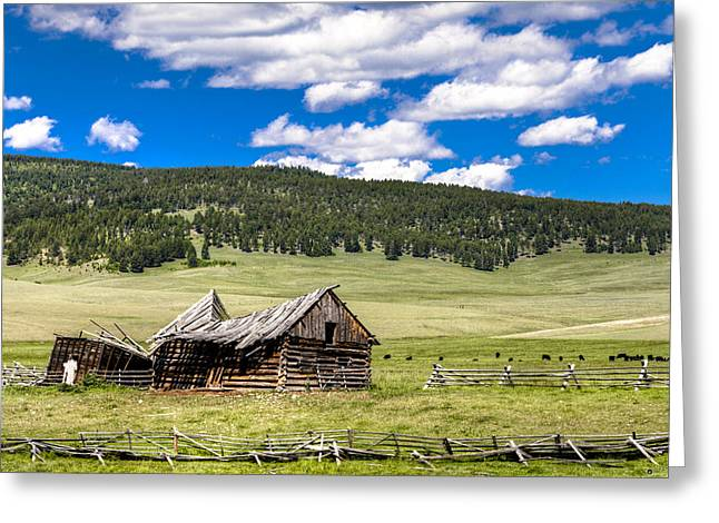 The Old Barn Greeting Card by John Harwood
