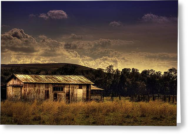 The Old Barn Greeting Card by Marvin Spates