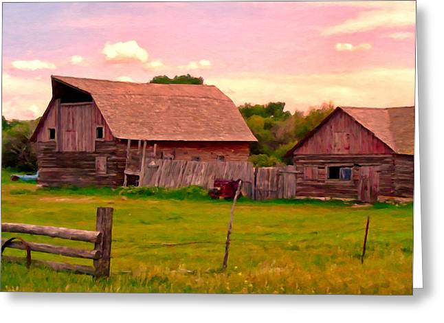 Canyon Ferry Lake Greeting Cards - The Old Barn Greeting Card by Michael Pickett