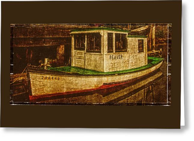 Fishing Boats Greeting Cards - The Old Beaver Fishing Boat Greeting Card by Thom Zehrfeld