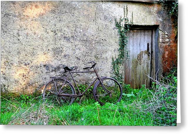 Famine Greeting Cards - The Old Bike in the Irish Countryside Greeting Card by Bill Cannon