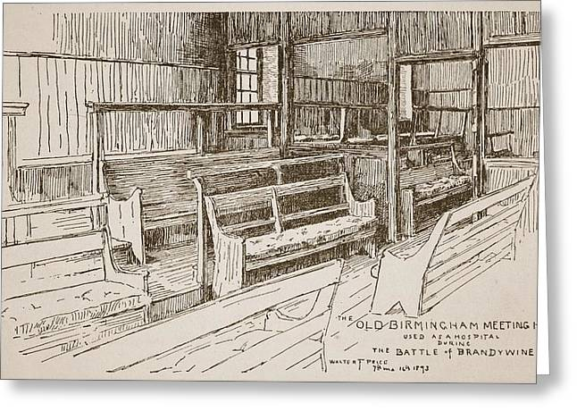Quaker Drawings Greeting Cards - The Old Birmingham Meeting House, 1893 Greeting Card by Walter Price