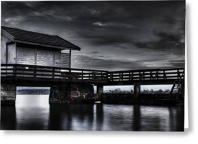Norway Village Greeting Cards - The Old Boat House Greeting Card by Erik Brede