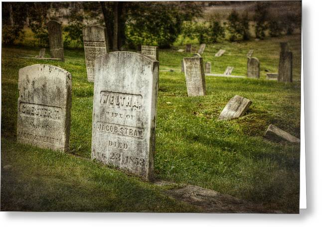 Destiny Greeting Cards - The Old Burial Ground Greeting Card by Joan Carroll
