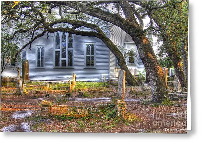 Beaufort Greeting Cards - The Old Burying Ground Greeting Card by Benanne Stiens