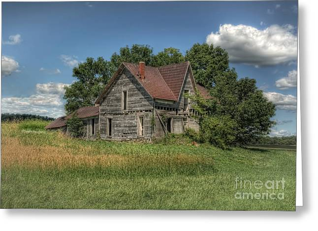 Old Farm House Greeting Cards - The Old Buzzard House Greeting Card by Pamela Baker