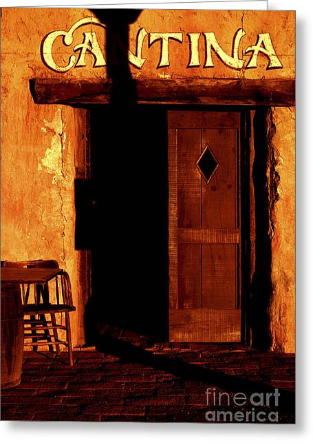 Cantina Greeting Cards - The Old Cantina Greeting Card by Paul W Faust -  Impressions of Light