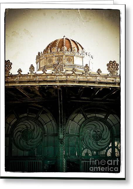 Altered Architecture Greeting Cards - The Old Carousel House Greeting Card by Colleen Kammerer