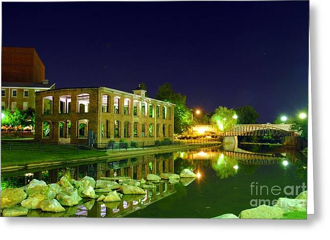 The Old Carriage House In Downtown Greenville Sc Greeting Card by Willie Harper