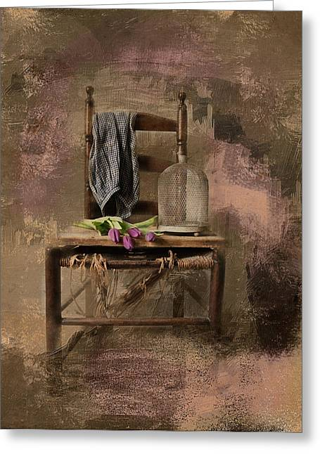 The Old Chair Greeting Card by Robin-lee Vieira