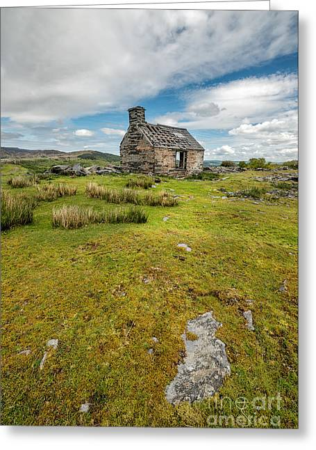 National Digital Art Greeting Cards - The Old Cottage Greeting Card by Adrian Evans