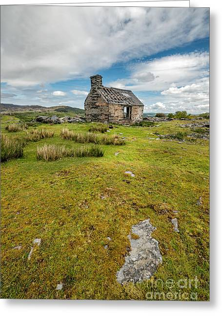 The Old Cottage Greeting Card by Adrian Evans
