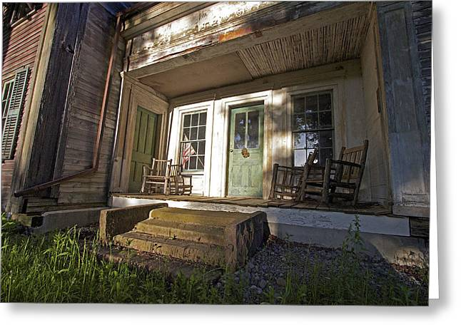 Cazenovia Greeting Cards - The Old Country Porch Greeting Card by John   Kennedy