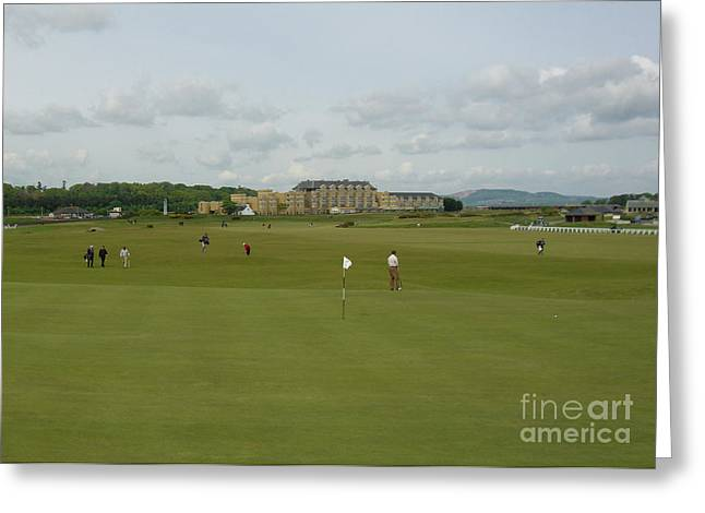 Sink Hole Greeting Cards - The Old Course Greeting Card by Deborah Smolinske