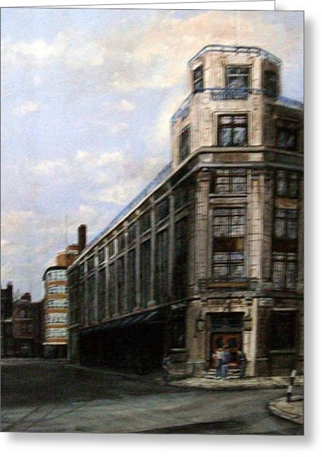 Daily Mail Greeting Cards - The Old Daily Mail Building London Greeting Card by Mackenzie Moulton