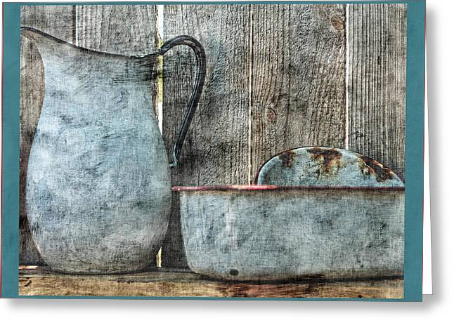 Old Pitcher Greeting Cards - The Old Days Greeting Card by Bonnie Bruno