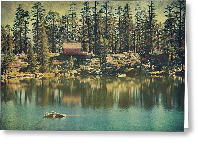 Textured Landscapes Greeting Cards - The Old Days by the Lake Greeting Card by Laurie Search
