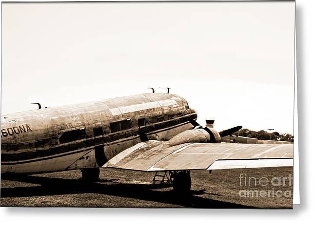 The Old Dc3 Greeting Card by Steven  Digman