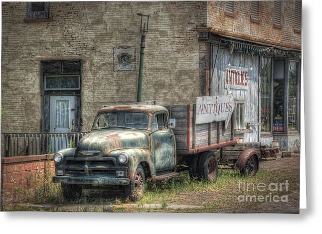 Old Trucks Greeting Cards - The Old Delphos Truck Greeting Card by Pamela Baker