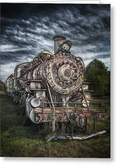 Hattiesburg Photographs Greeting Cards - The Old Depot Train Greeting Card by Brenda Bryant