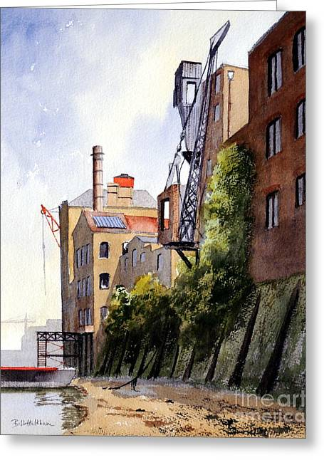 London Boroughs Greeting Cards - The Old Docks - Rotherhithe London Greeting Card by Bill Holkham