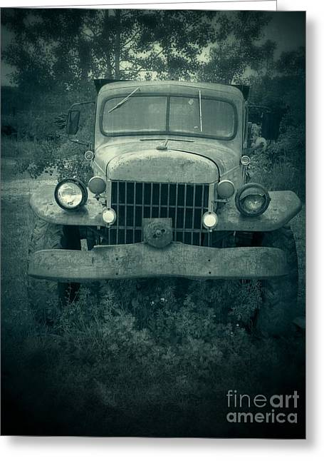 Old Trucks Greeting Cards - The Old Dodge Greeting Card by Edward Fielding